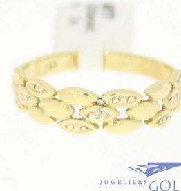 Vintage 14k gouden ring met diamant