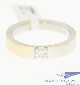 vintage 18k witgouden ring met 0.45ct briljant geslepen diamant