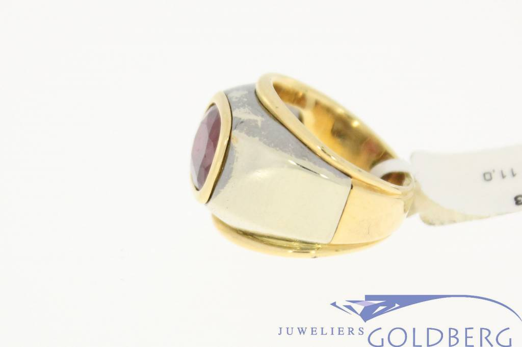 vintage 18k gold ring with ruby