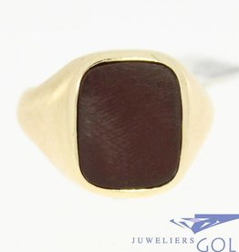 vintage 14k gold ring with carnelian