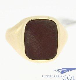 vintage 14k gouden heren ring met carneool