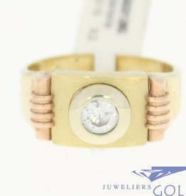 vintage 14k 3-color gold with zirconia