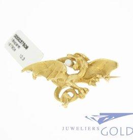 Victoriaanse stijl gouden draak/griffioen