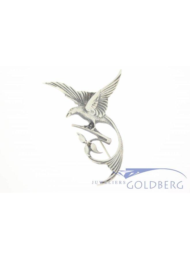 Silver bird-of-paradise brooch 1950's