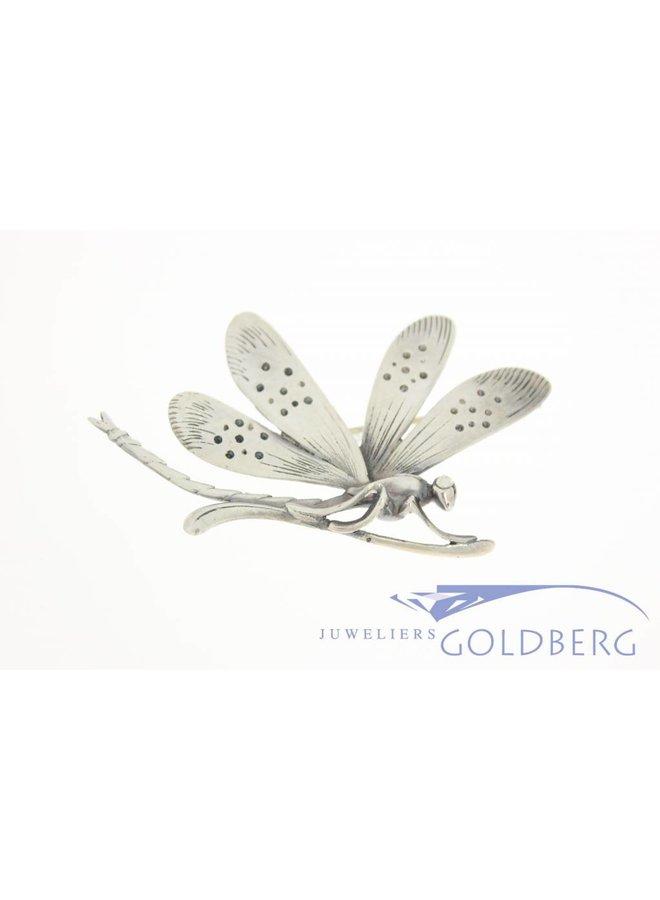 Vintage silver dragonfly brooch 1950's