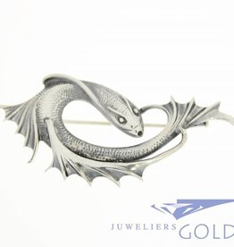Silver fish brooch1930's