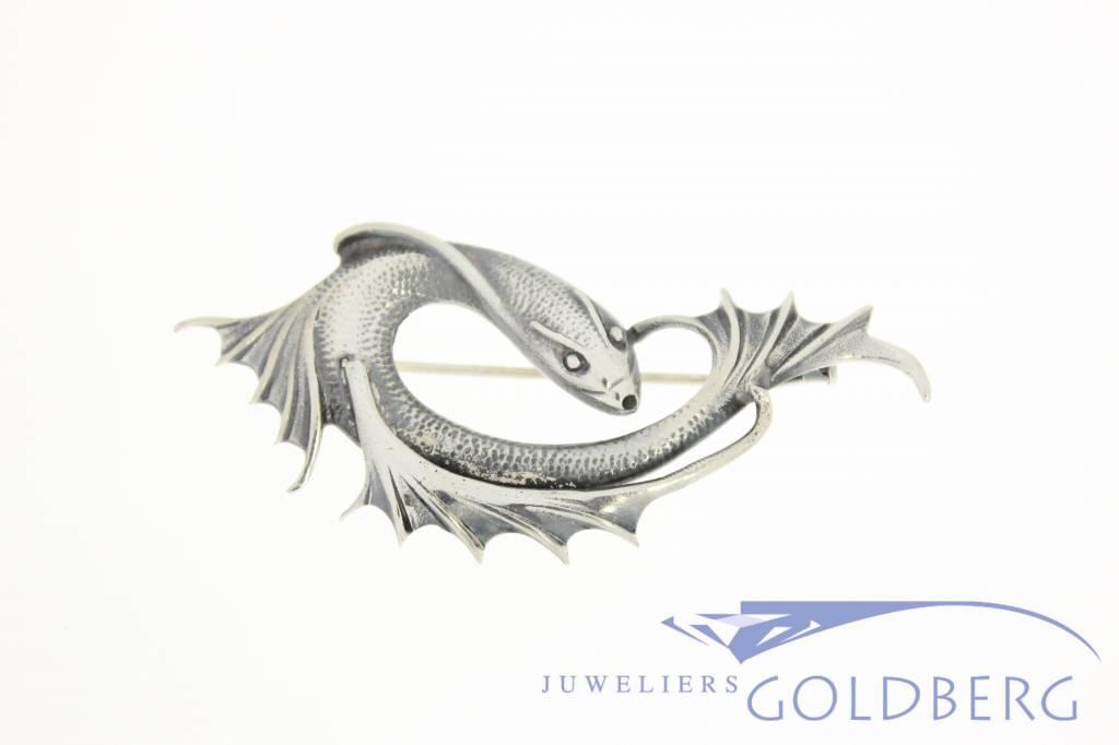 Silver fish brooch 1930's - Goldberg