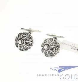 Antique/Vintage French silver filigree cufflinks