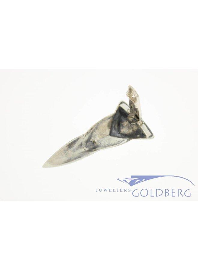 Antique silver art deco pin Amsterdam 1925-1934
