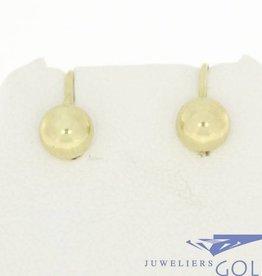 Vintage 14k gouden bolvormige oorhangers