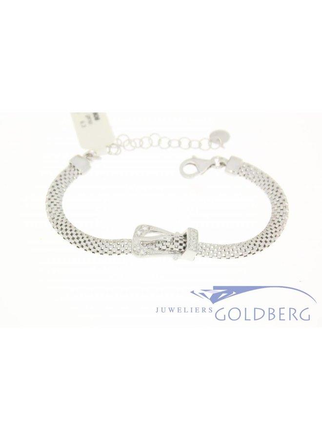 Zilveren armband met sier gesp