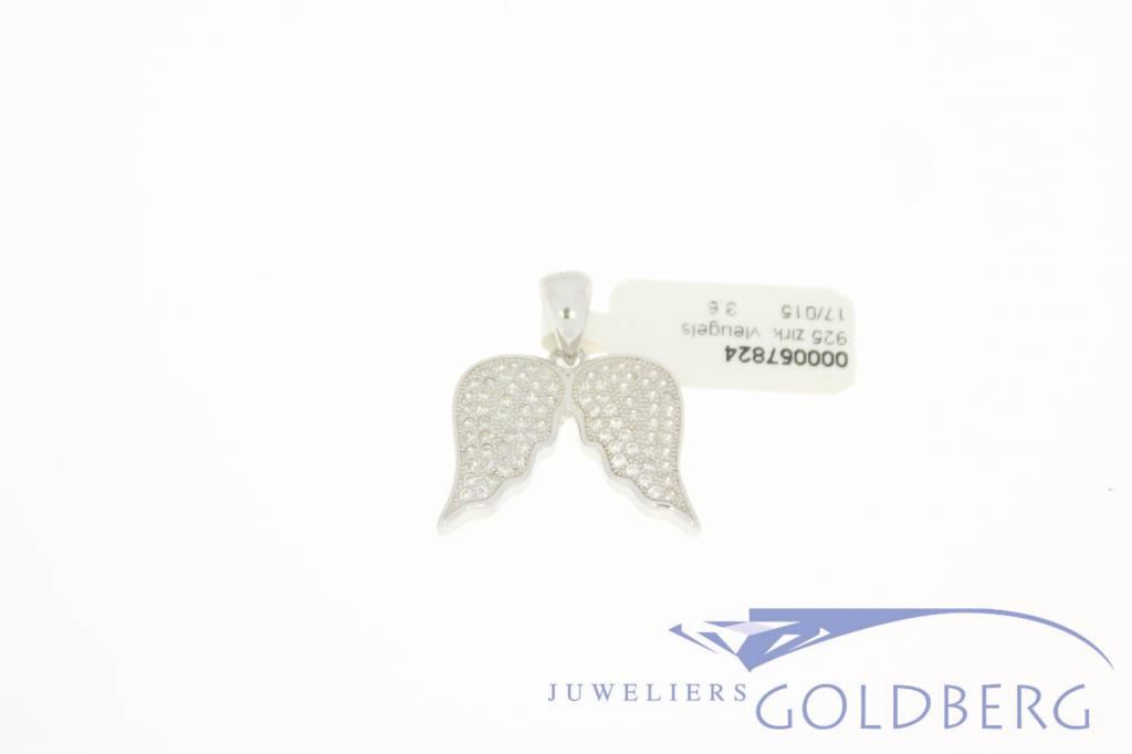Zilveren engelen vleugels hanger