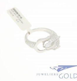 Panter ring zilver