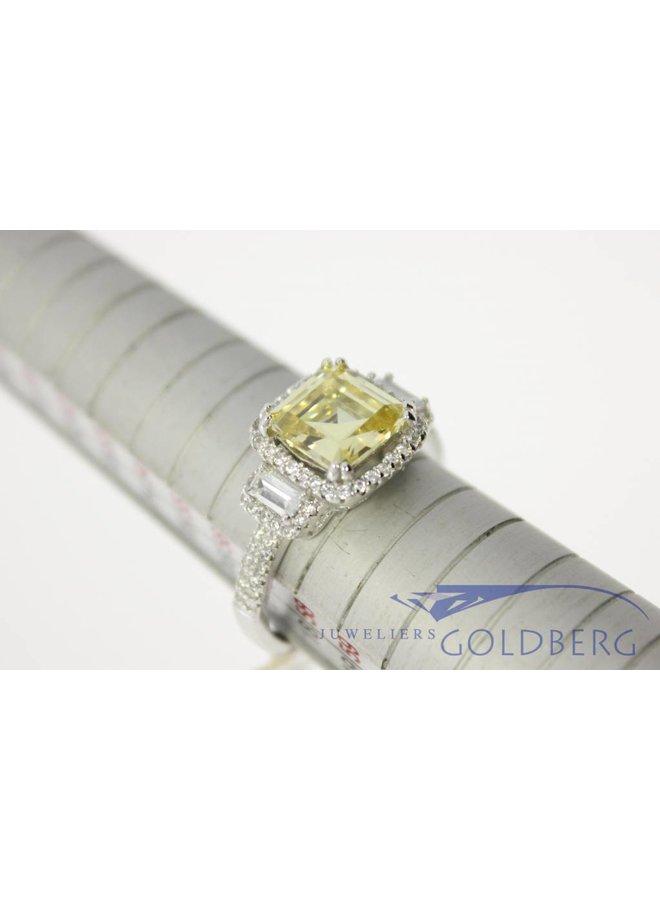 klassieke zilveren gala ring