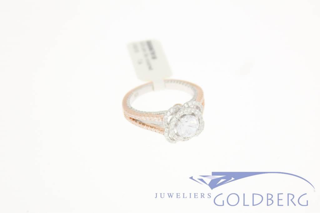 Zilveren gala ring rose zilver met zirconia