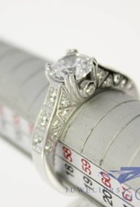 Silver solitaire ring extra