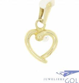 Lieflijk 14k gouden vintage hanger hartje