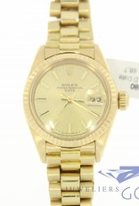 Rolex oyster perpetual Date Lady 18k goud