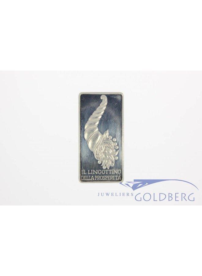 Silverbar 75 grams IL LINGOTTINO DELLA PROSPERITA.