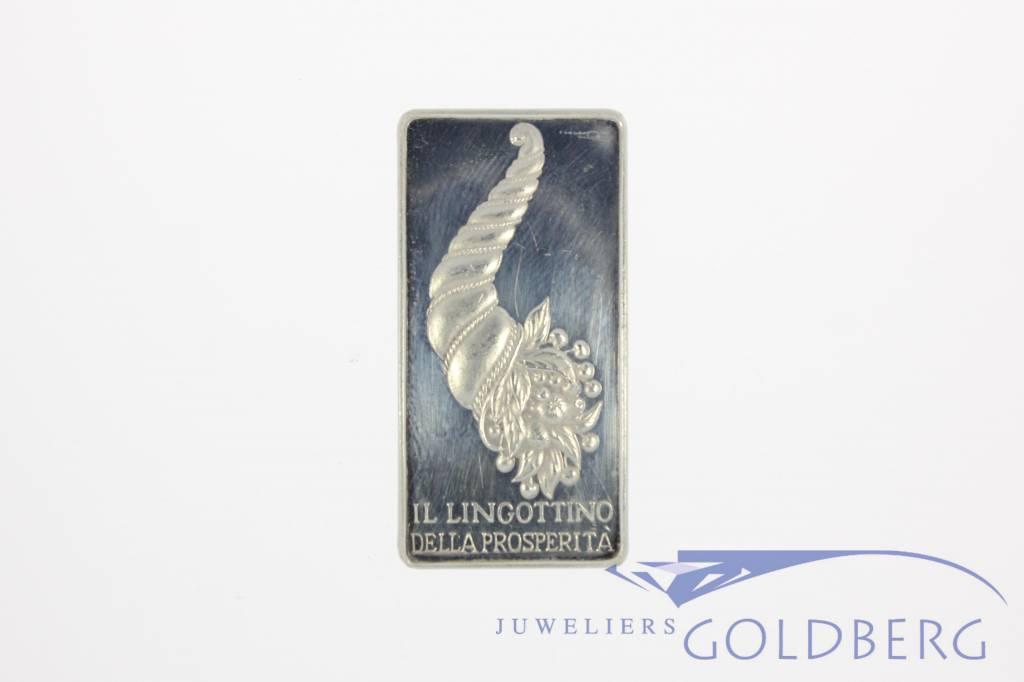 Vintage zilverbaartje 75 gram IL LINGOTTINO DELLA PROSPERITA