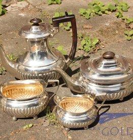 Zilveren theeservies Londen 1894-'95 vierdelig