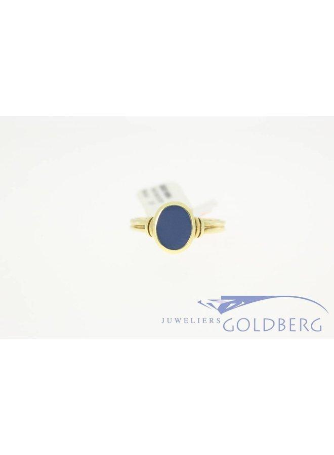 vintage 14k gouden ring met chalcedoon