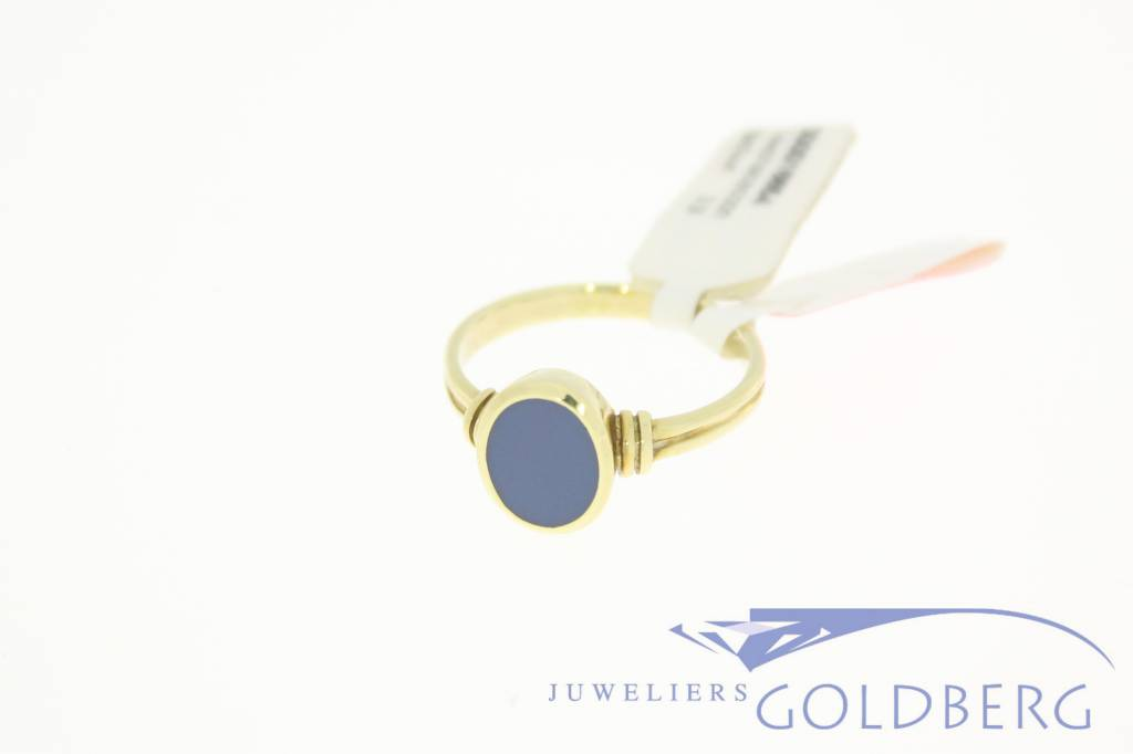 vintage ring 14k gold with chalcedony