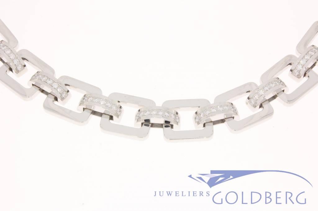 vintage witgouden Chopard collier met diamant.