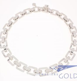 Vintage Chopard necklace white gold with diamonds