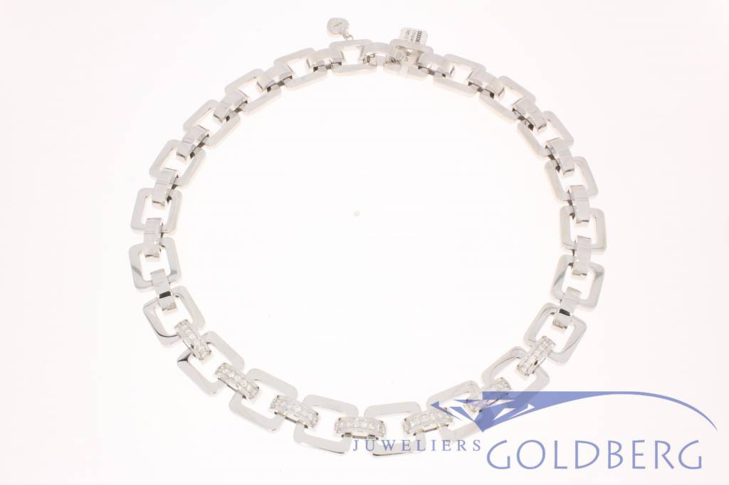 Vintage Chopard les Chaines necklace white gold with diamonds