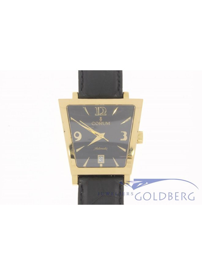 Corum Trapeze Automatic 18K Gold w/Black Dial and strap