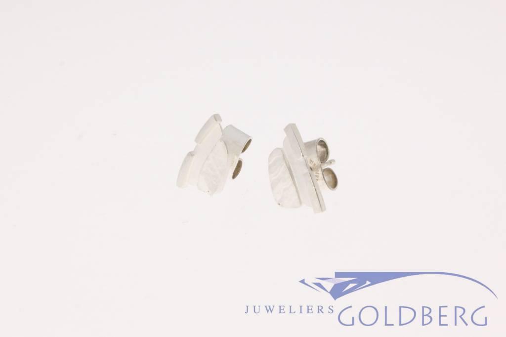 Vintage Lapponia Prints earrings silver