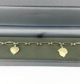 Speciale bestelling 14k gouden kinderhoofdje & hartje