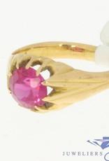 Vintage 18k gouden ring met spinel