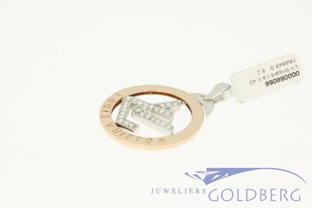5ec5ae2e490 Vintage 18k gold Louis Vuitton pendant with diamonds - Goldberg