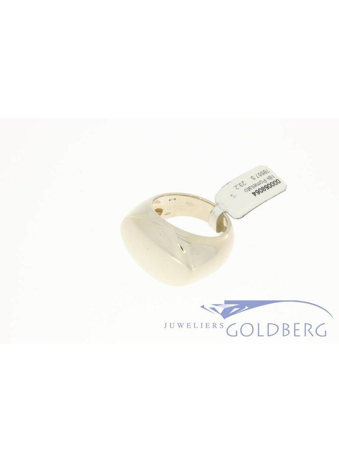 Vintage 18k witgouden Pomellato ring groot