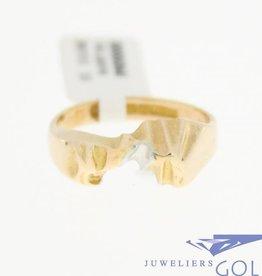 Vintage 14k bicolor ring Lapponia handgemaakt