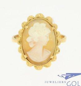 Vintage 18k gouden ring met camee