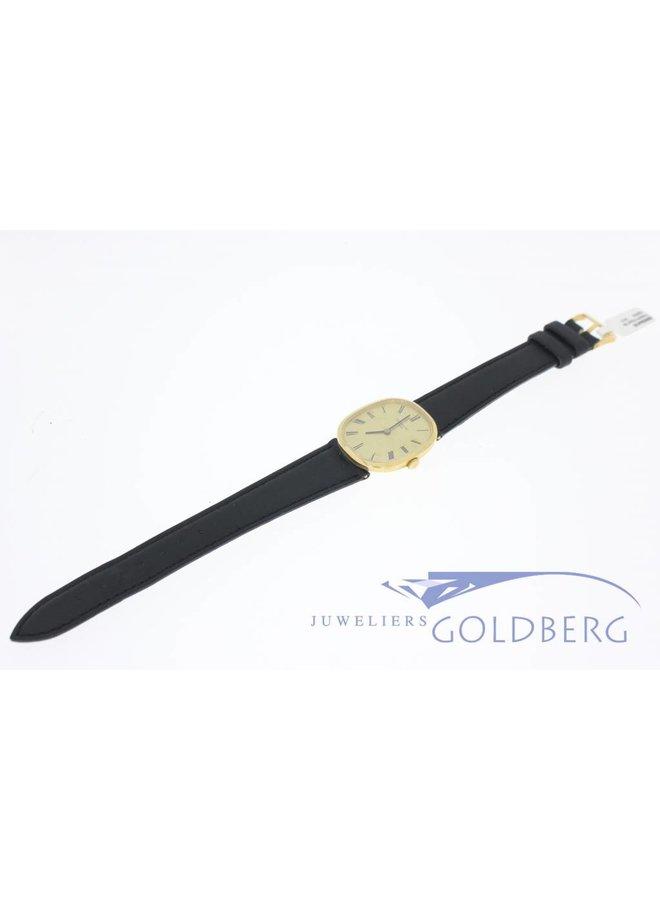 Vintage Patek Philippe Ellipse 3548 18k gold leather strap