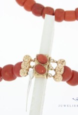 Red coral necklace 62cm, 7-10mm width