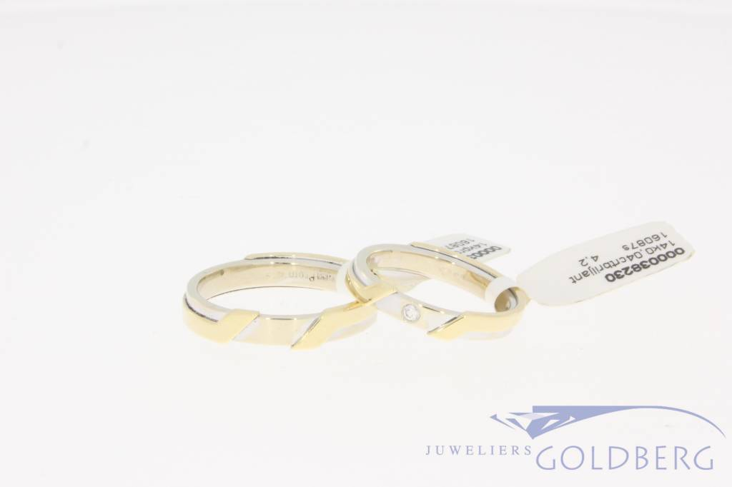 Vintage gold wedding ring set by Promises