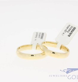 Classic 14k gold wedding ring set model K57