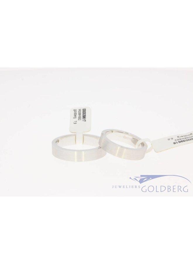 14k white gold wedding ring set model K662