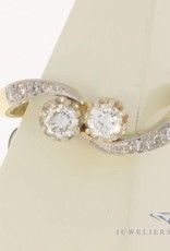 Vintage 14 carat gold ring with approx. 0.25ct diamond
