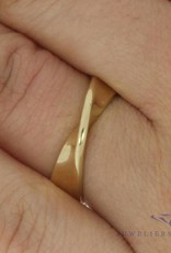 Vintage 14 carat gold twisted ring