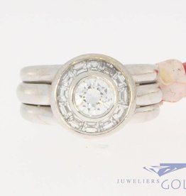 Vintage 18k witgouden ring 1.40ct diamant