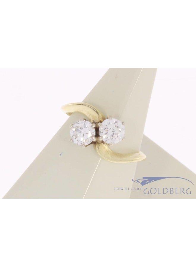 Vintage 14 carat gold ring with ca. 0.70ct brilliant cut diamond