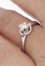 Vintage 18 carat white gold ring 0.22ct brilliant cut  diamond