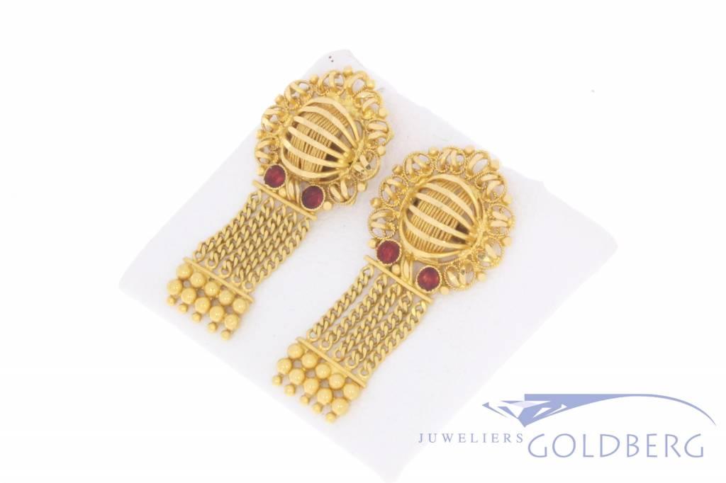 Vintage 20k gouden oorstekers