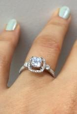 18k witgouden ring met ca. 1.07ct diamant